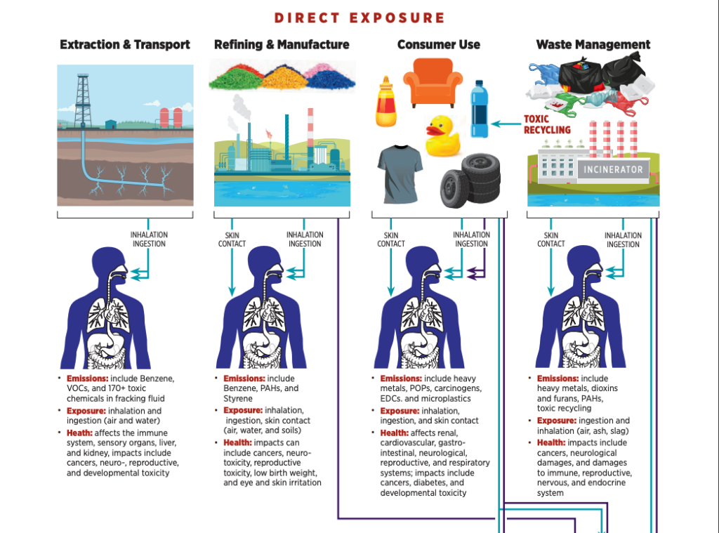 Infographic on direct exposure to plastic. Copyright CIEL/Nonprofitdesign.com